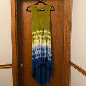 NWOT Tie Dye Cover Up with Embroidery